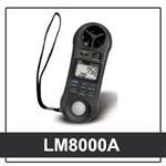 Máy đo tốc độ gió, độ ẩm, ánh sáng LM8000A